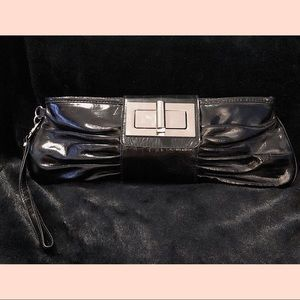 Express Black Patent Leather Clutch w/ wristlet